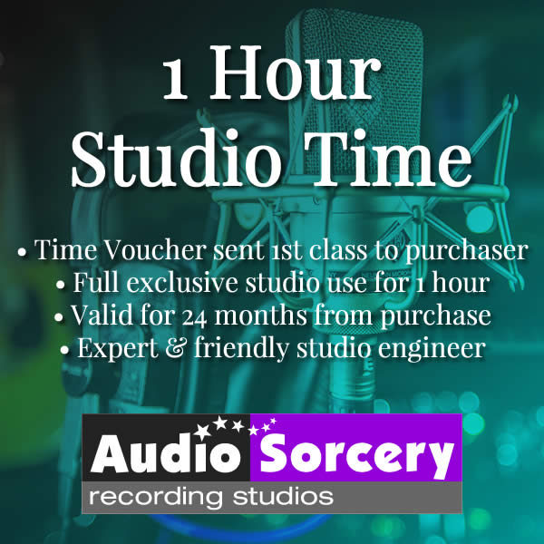 One Hour Studio Time at Audio Sorcery Recording Studios
