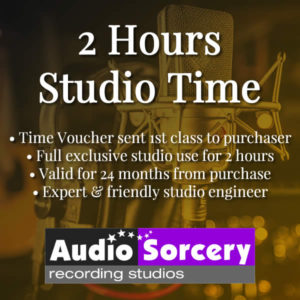 Two Hours Studio Time at Audio Sorcery Recording Studios