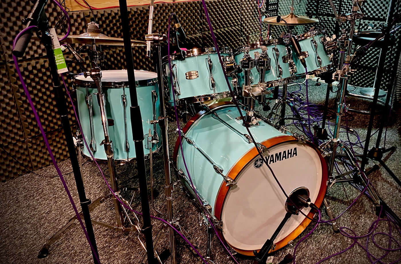 Yamaha Recording Custom Drum Kit at Audio Sorcery recording studios